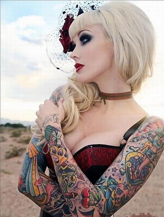 Tatoo hot and sexy tattoo for girls for Hot chics with tattoos