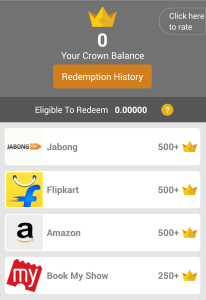crown it cashback offer