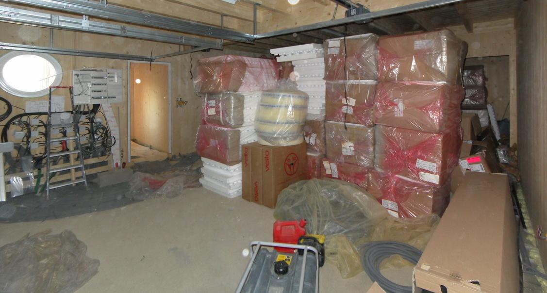 Notre maison passive au pays des 3 fronti res lorraine dalles pour planche - Plancher chauffant pour garage ...