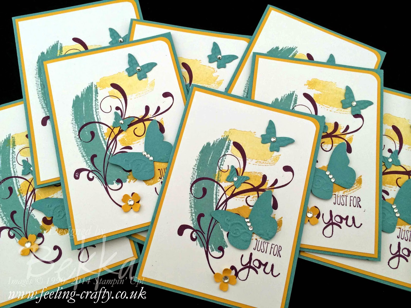 Work of Art Butterfly cards by Stampin' Up! UK Independent Demonstrator Bekka  - get your Stampin' Up! goodies here