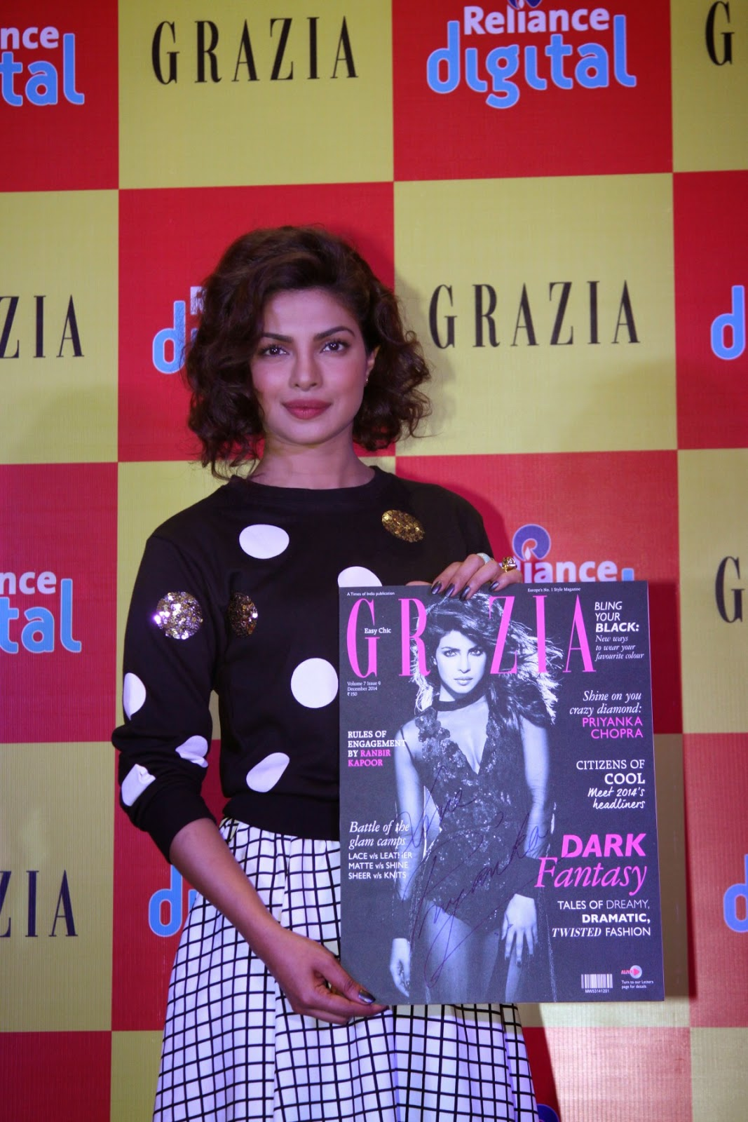 Priyanka Chopra at launching of Grazia Magazine Cover page
