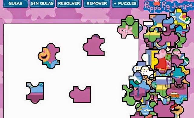 peppa pig jigsaw puzzle school game games  frre fun