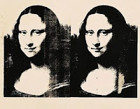 Andy Warhol Two White Mona Lisa