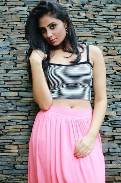 Actress Bhanu Sri Mehra Hot Photo Shoot Stills Sexy girl sharp looking Bhanu Sri Mehra deep dark bold Navel show Still