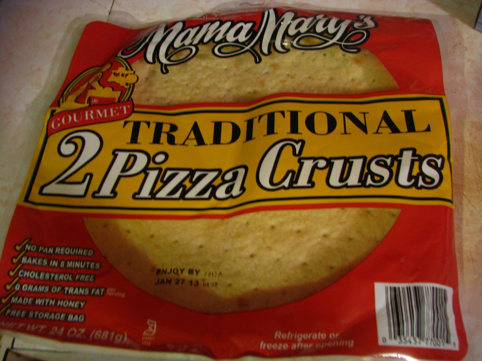 Blue Owl Review Mama Mary 39 S Pre Made Pizza Crust