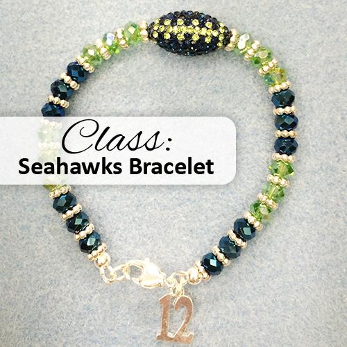 Seahawks Bead Bracelet