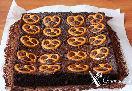 Brownie de Nutella e pretzel