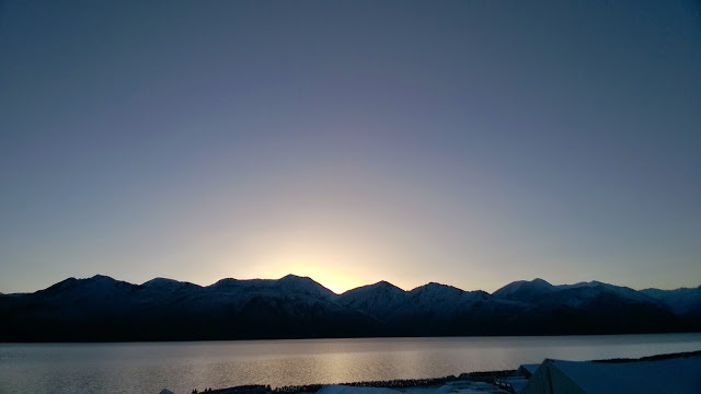 Pangong Lake, Sun, sunrise,