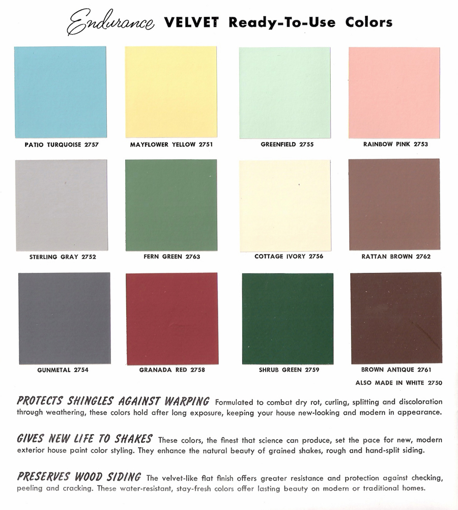 The Sunshine Grove: 1950s Glidden Exterior Paint