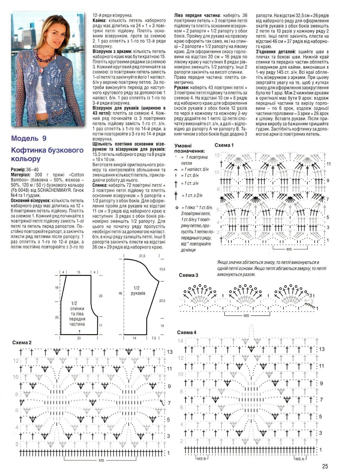 Журнал вязание крючком со схемой