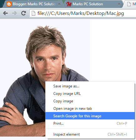 Search by an Image from Browser Tab