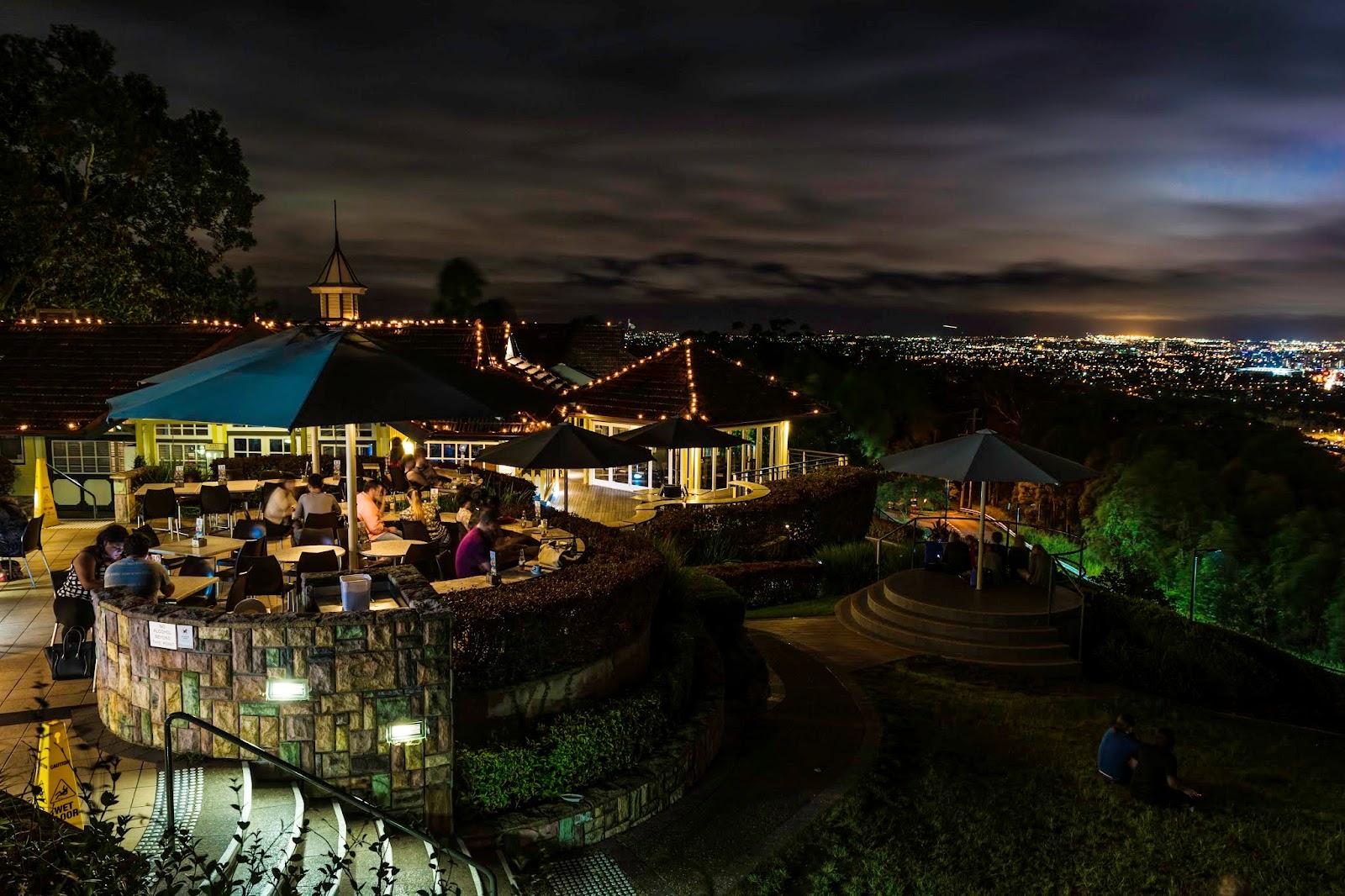 Mt Cootha рестораны с красивыми видами