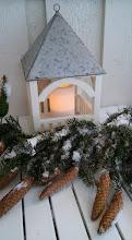 Jul ute på trappa