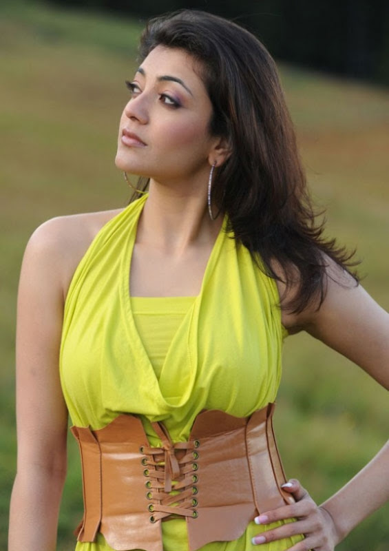 Spicy Kajal Agarwal In Hot Mood Yellow Dress Latest Stills Photos gallery pictures