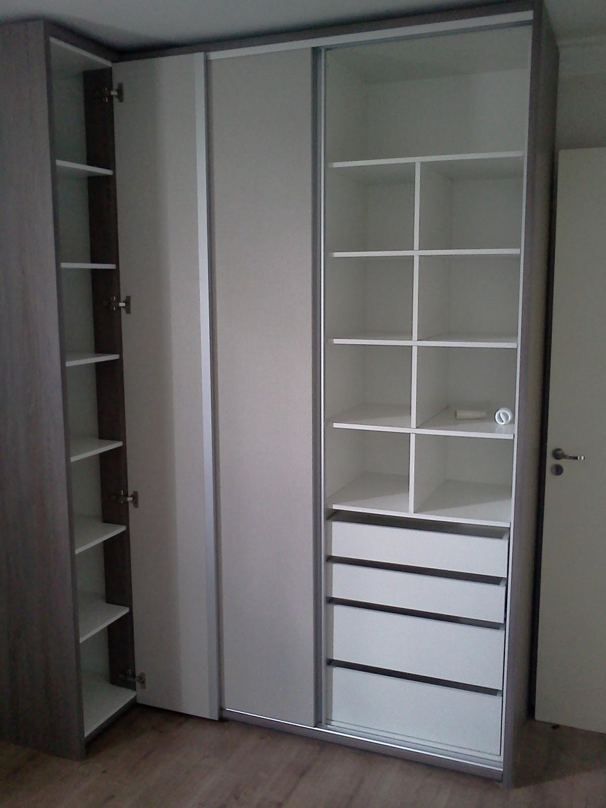 Armario Closet De Canto ~ MOVEIS PLANEJADOS Closet de canto a 90 u00ba