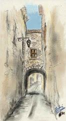 Une rue de Sauve (Gard)