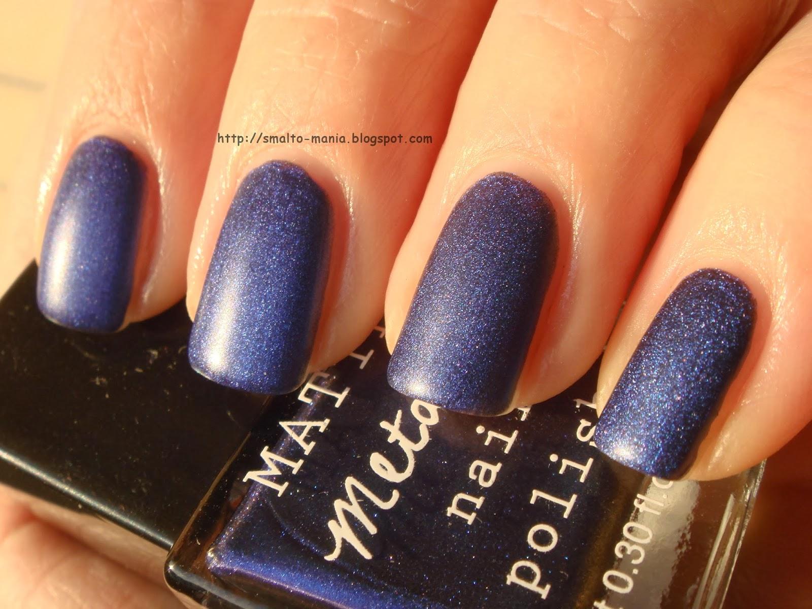 H&M Matte Metallic Blue Metal