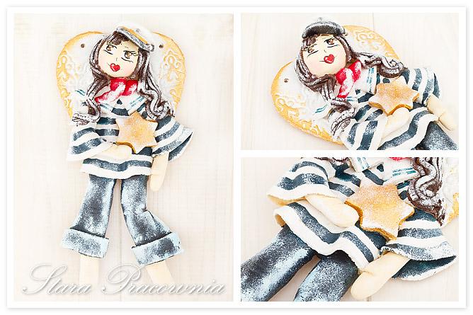 aniołek z masy solnej anioł z masy solnej masa solna figurka z masy solnej salt dough