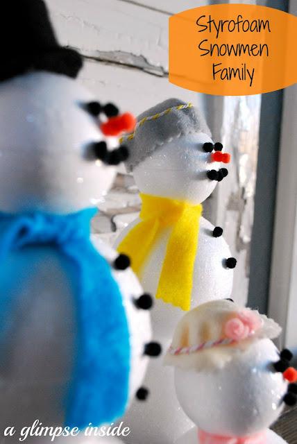 http://www.aglimpseinsideblog.com/2013/01/styrofoam-snowmen-family-tutorial.html
