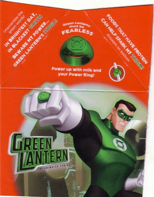Animated Green Lantern Happy Meal panel