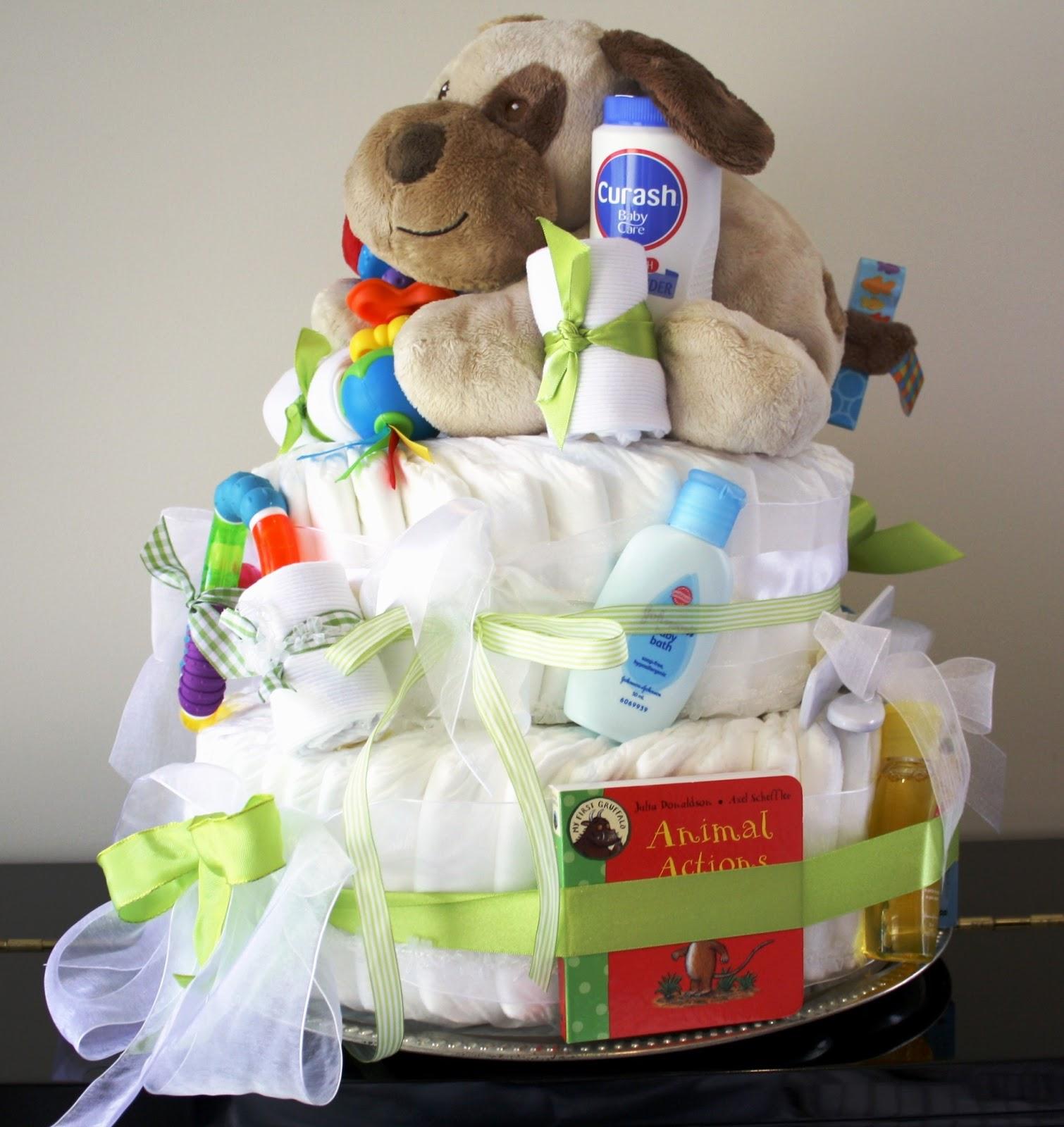 Nappy Cake Baby Shower Part - 22: Baby Shower Nappy Cake