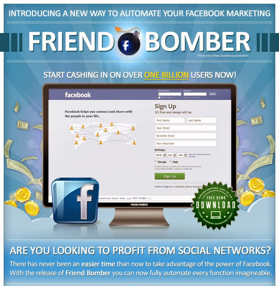 Download Facebook Friend Bomber Crack