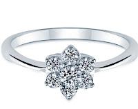 flower diamond rings