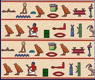 Jeroglíficos egipcios, historia de egipto, grabados egipcios, significado de jeroglíficos