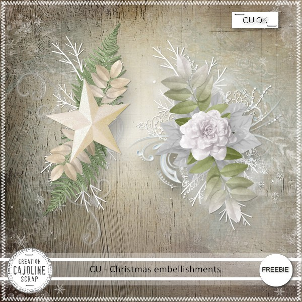 Free digital scrapbook christmas embellishment 2 from Cajoline Ssraps