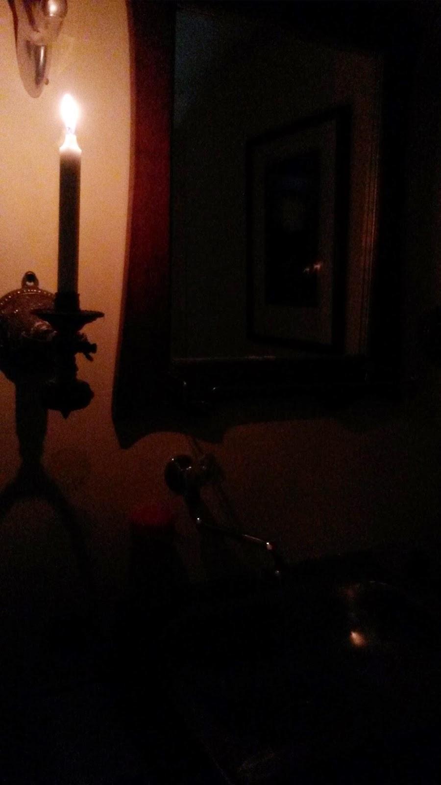 Kerzenschein am klo