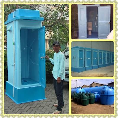 toilet portable fiberglass, flexible toilet frp, wc proyek, toilet sementara, closet duduk, wc jongkok, septic tank biotech, wc event organizer, sewage treatment plant biotek