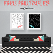 Rain and Snow Wall Art: Free Printables for All Things Thrifty