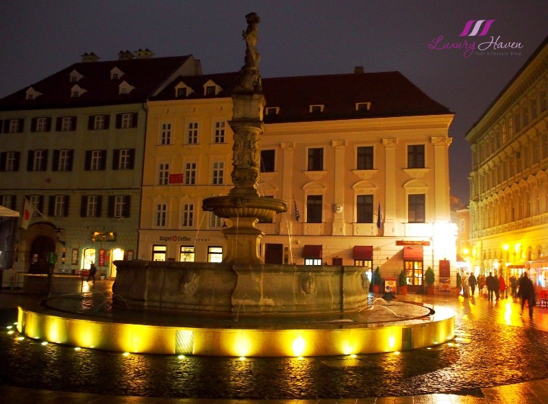eu holidays slovakia bratislava maximilian roland fountain