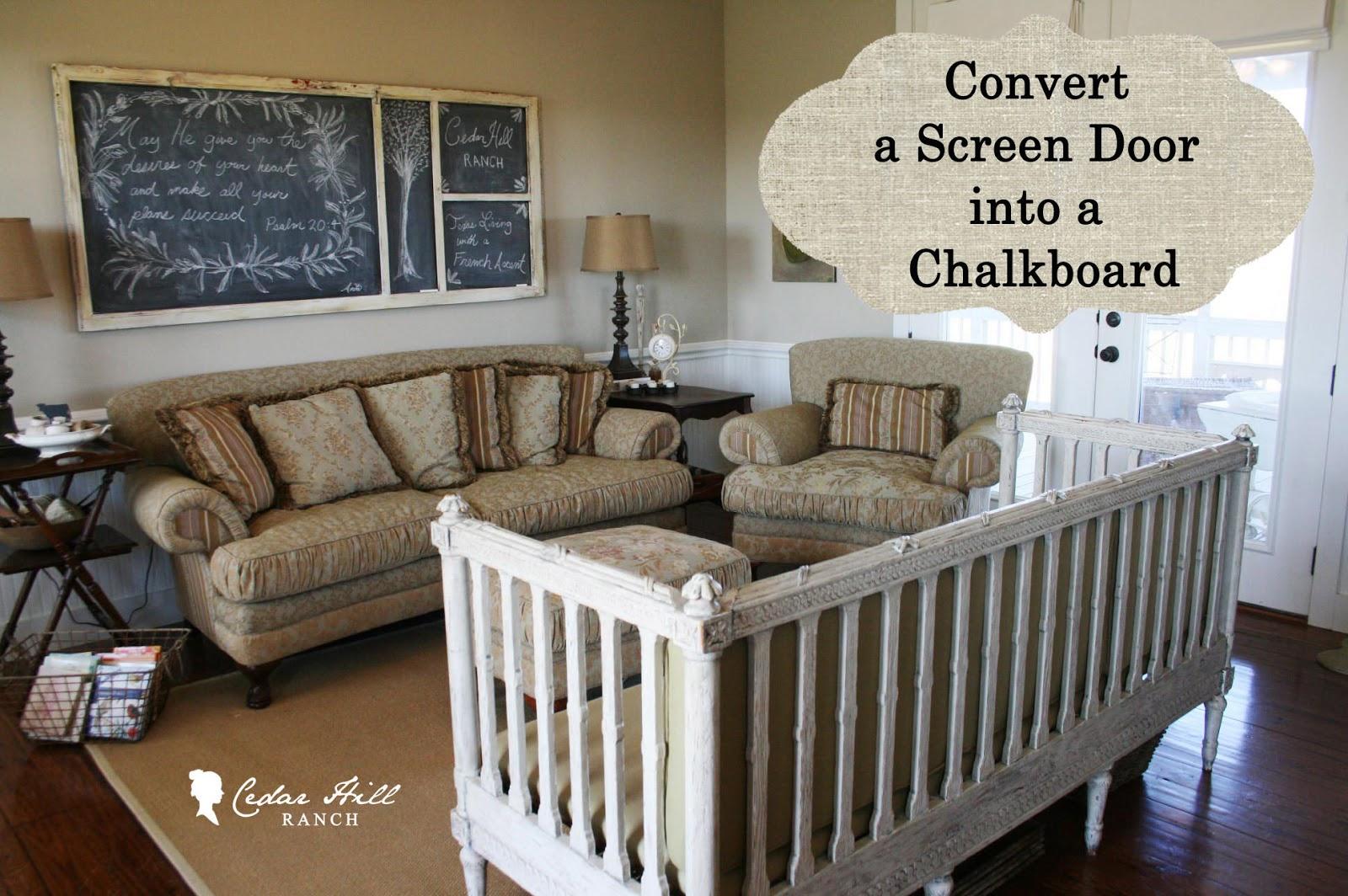 My Screen Door Turned Chalkboard & My Screen Door Turned Chalkboard - Cedar Hill Farmhouse Pezcame.Com