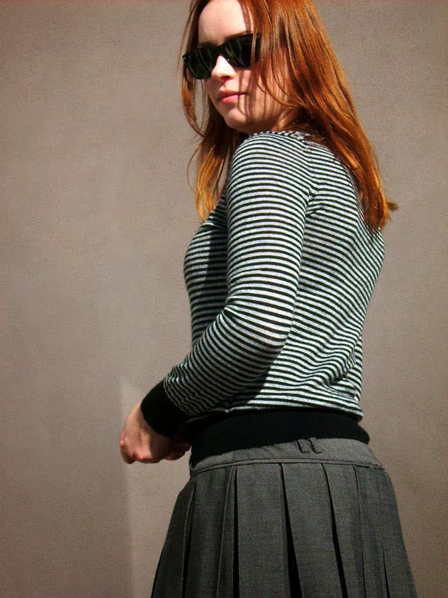 pleated skirt diy, outfit of the day