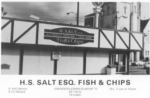 Vintage spokane h salt fish chips for H salt fish chips