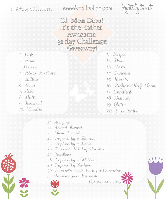 Oh Mon Dieu! It's the Rather Awesome 31 Day Challenge