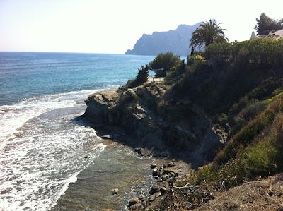 Wanderweg Cala Calalga Calpe   Les Basetes Benissa o Ruta senderista Voramar Calpe