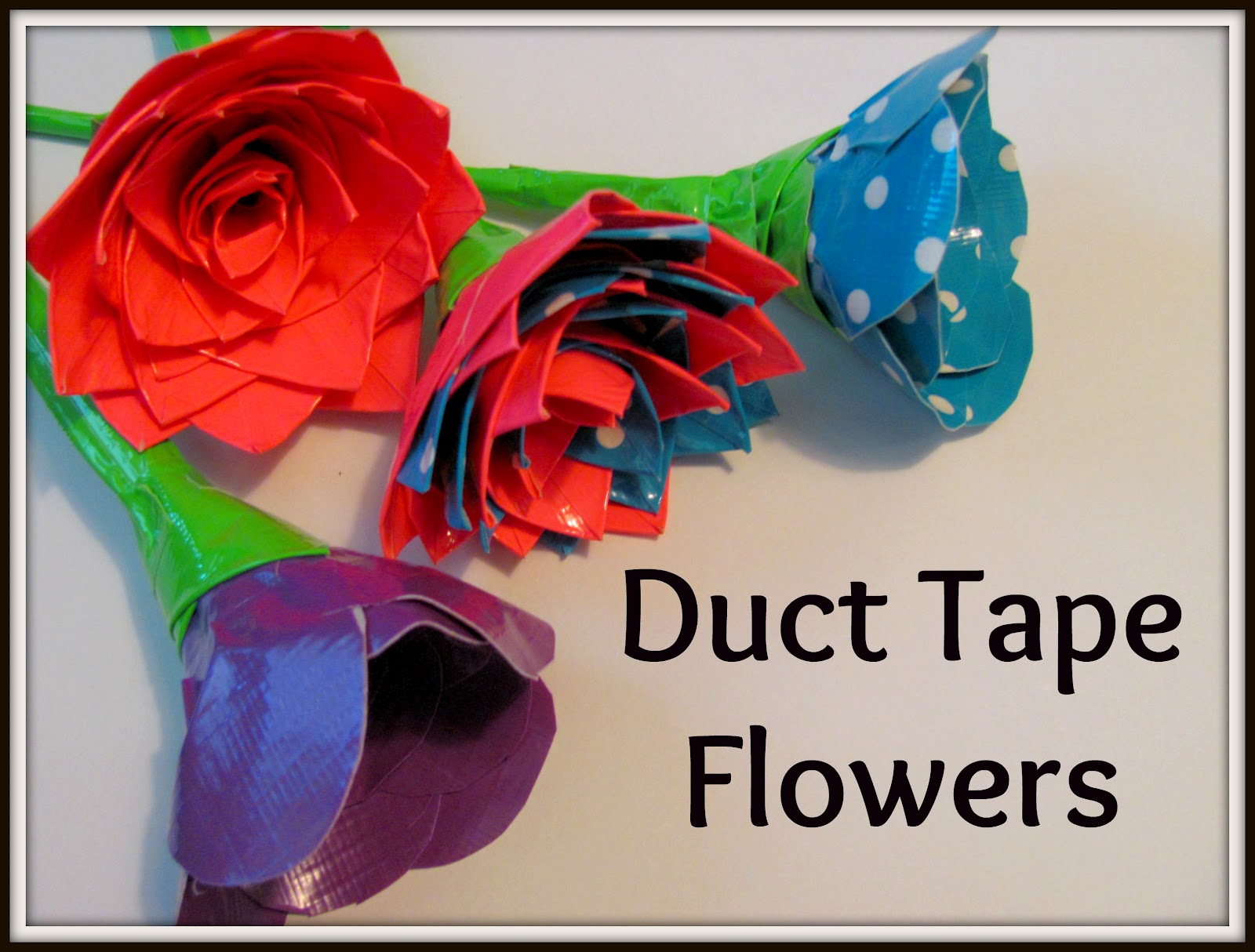 The chocolate muffin tree duct tape flowers and inspiration for Duct tape craft projects