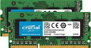 8 GB x 2, DDR4, 2400 MT//s, PC4-19200, Single Rank x 8, SODIMM, 260-Pin Crucial CT2K8G4SFS824A Kit de Memoria RAM de 16 GB