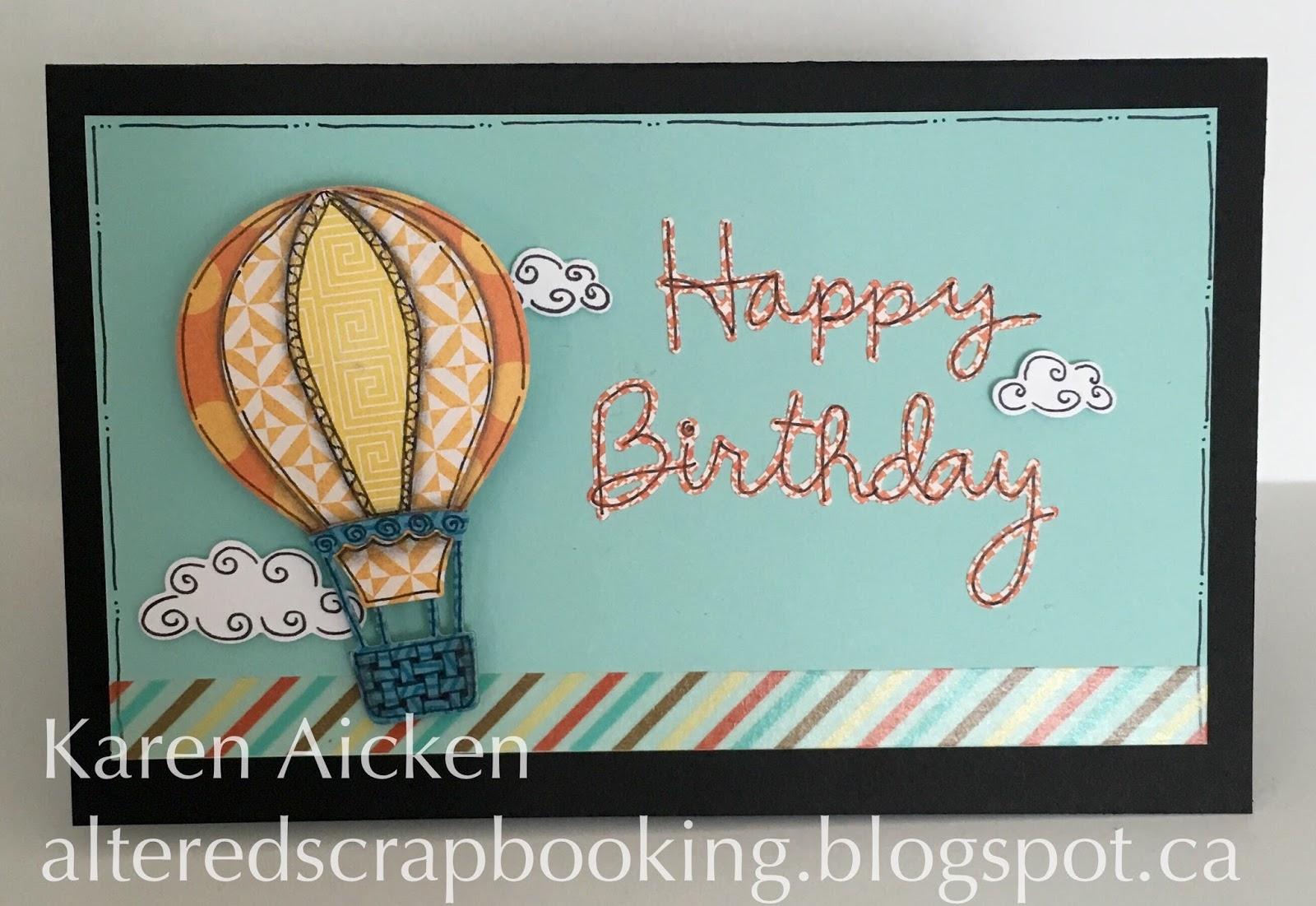 Altered Scrapbooking Hot Air Balloon Pop Up Card