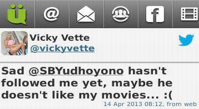 SBY Digoda Bintang Porno di Twitter