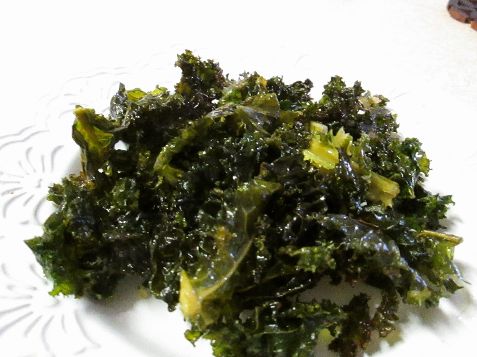 how to cook red kale chips