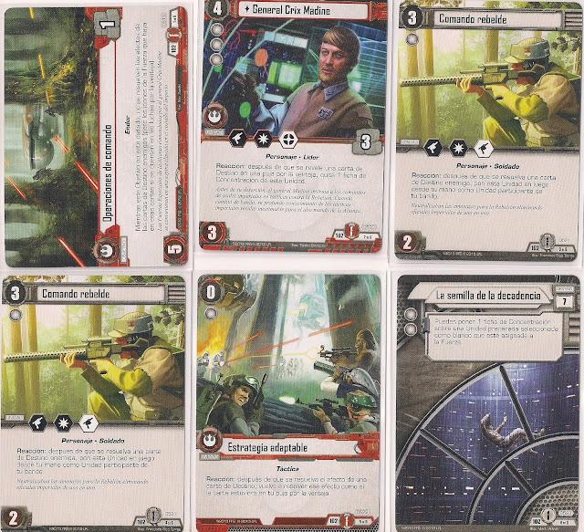 Expansión Star Wars LCG: Ciclo de Ecos de la Fuerza - La atracción del Lado Oscuro Operaciones de comando
