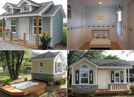 many will model the dog house after their own home which adds to the aesthetic beauty of their landscaping luxury dog homes are also emerging across the