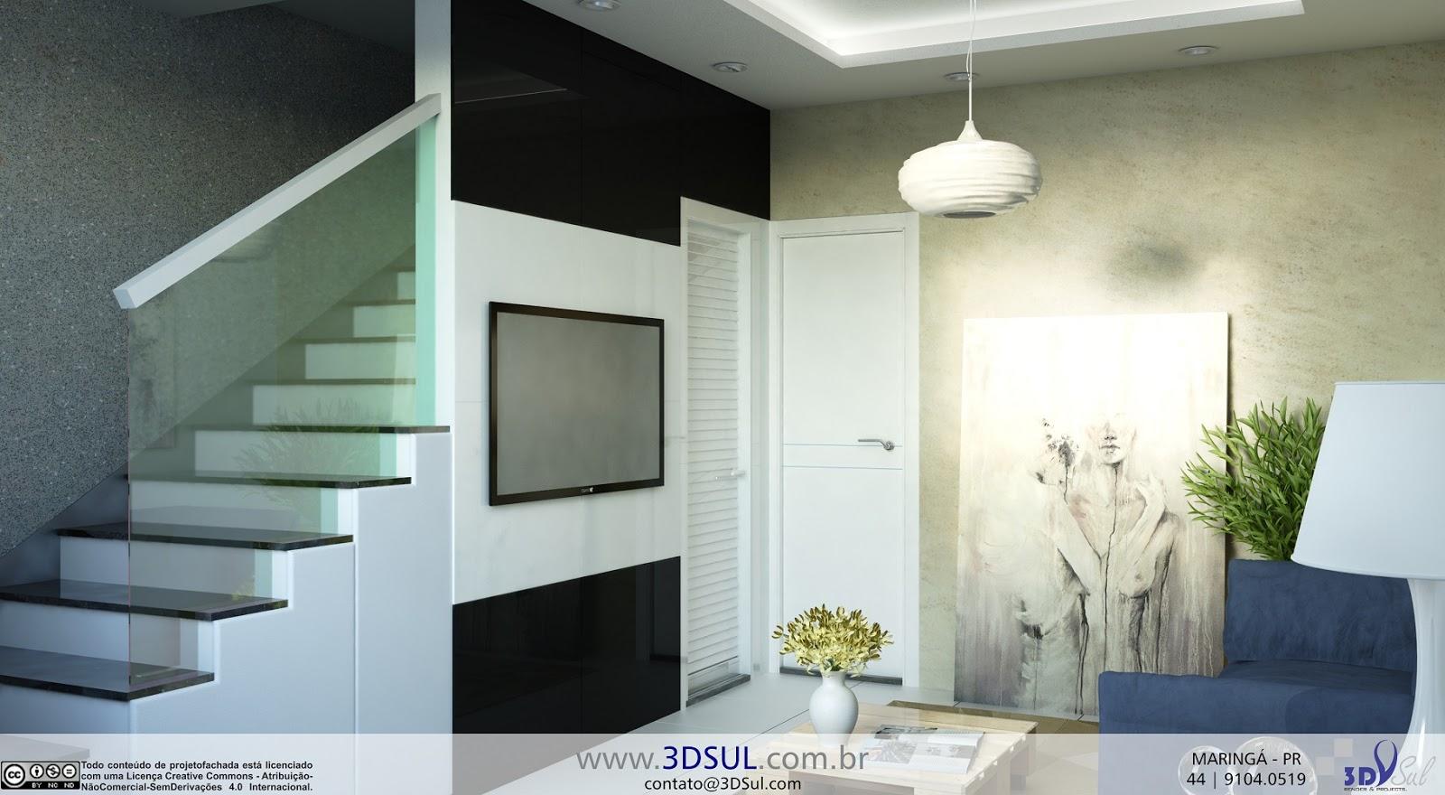 3dsul maquete eletr nica 3d for Salas pequenas e modernas