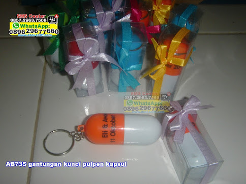 gantungan kunci pulpen kapsul grosir