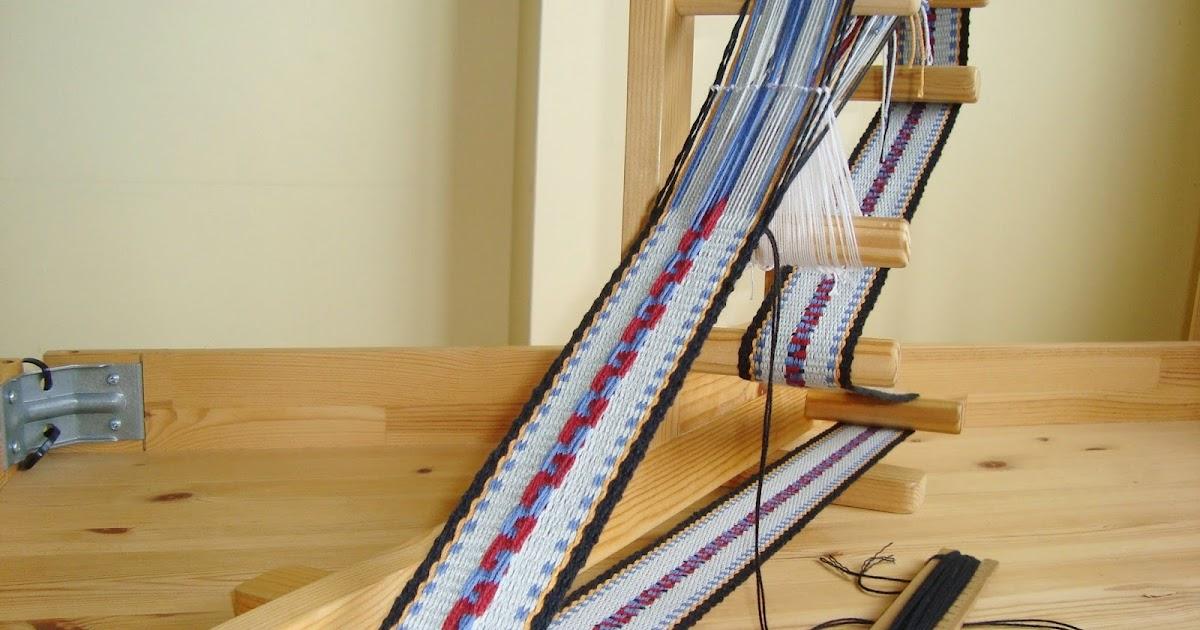 Giosennifer strisce di cotone e sciarpa di lana tessute nelle lunghe e piovose sere invernali - Telaio da tavolo per tessitura a mano ...