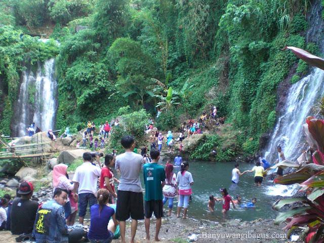 Air terjun Bersaudara di Glagah, Banyuwangi.