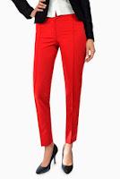 Pantaloni rosii cu dunga model P018 (Ama Fashion)